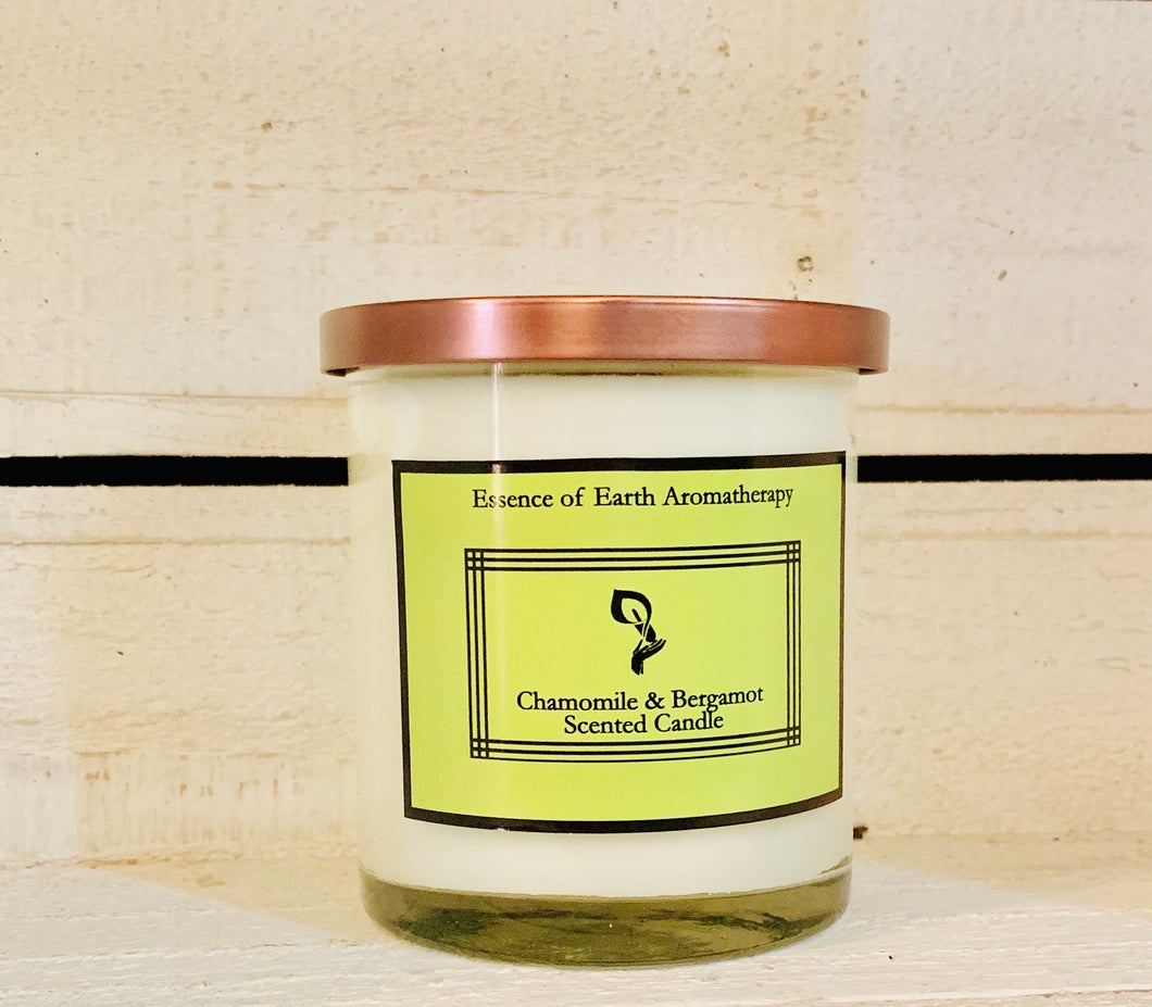 Chamomile & Bergamot Soy Wax Scented Candle