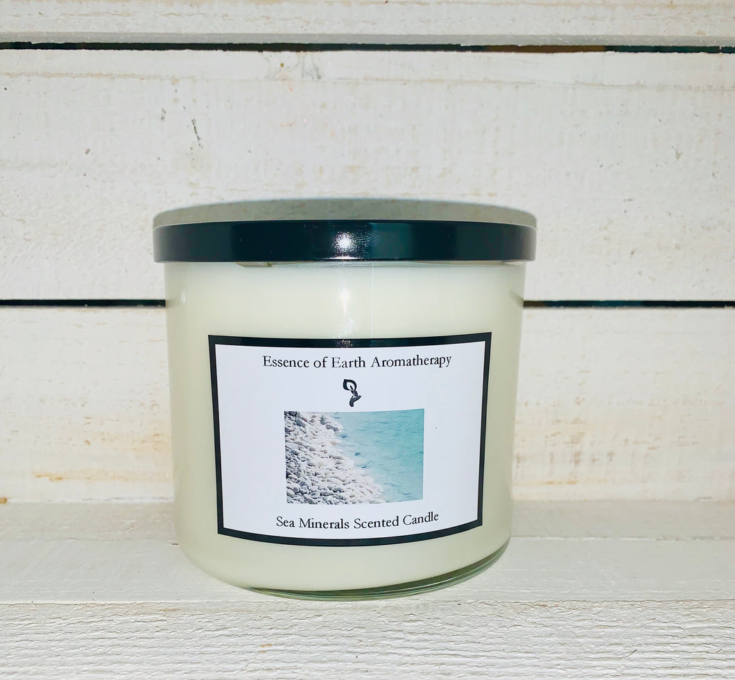 Sea Minerals 3 Wick Soy Wax Scented Candle