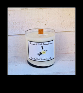 Vanilla Oak Soy Wax Scented Candle