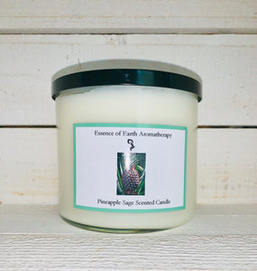 3 Wick Pineapple Sage Soy Wax Scented Candle