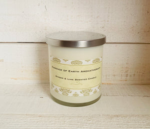 Ginger & Lime Scented Soy Wax Scented Candle