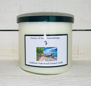 3 Wick Caribbean Teakwood Soy Wax Scented Candle
