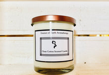 Load image into Gallery viewer, Clean Cotton Soy Wax Scented Candle