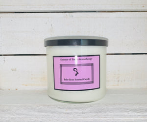 3 Wick Baby Rose Soy Wick Scented Candle