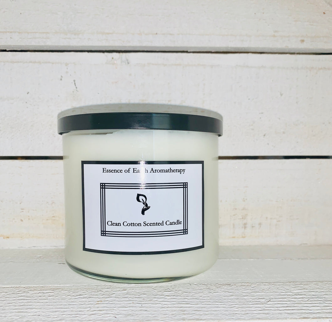 Clean Cotton Soy Wax Scented Candle
