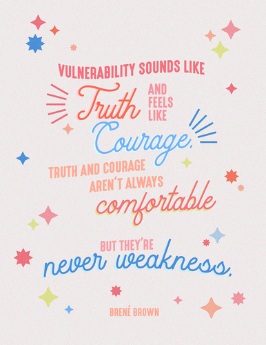 Vulnerability Brene Brown Quote - Art Print