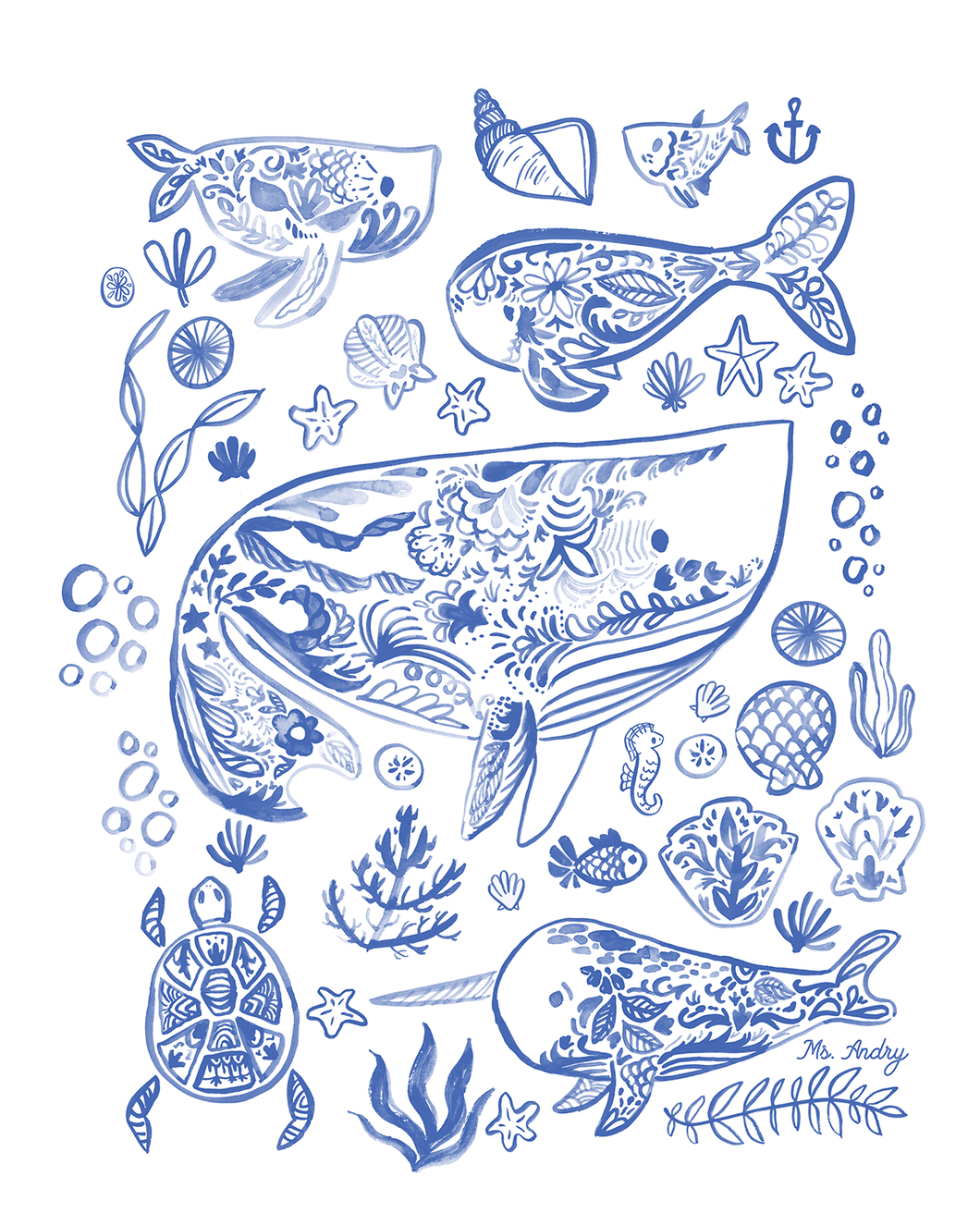 Ocean Friends - Art Print