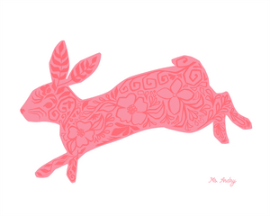 Floral Rabbit - Art Print