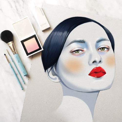 Laud magazine fashion beauty makeup girl illustration by Melbourne based illustrator Kelly Thompson