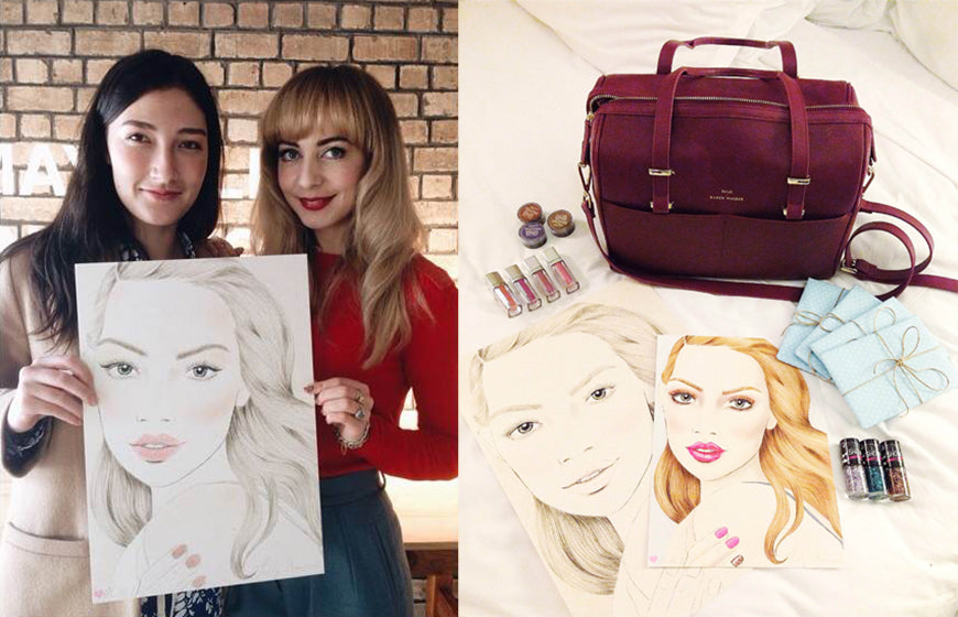 Melbourne beauty Illustrator Kelly Thompson hosted a makeup art class for Maybelline New York in Auckland