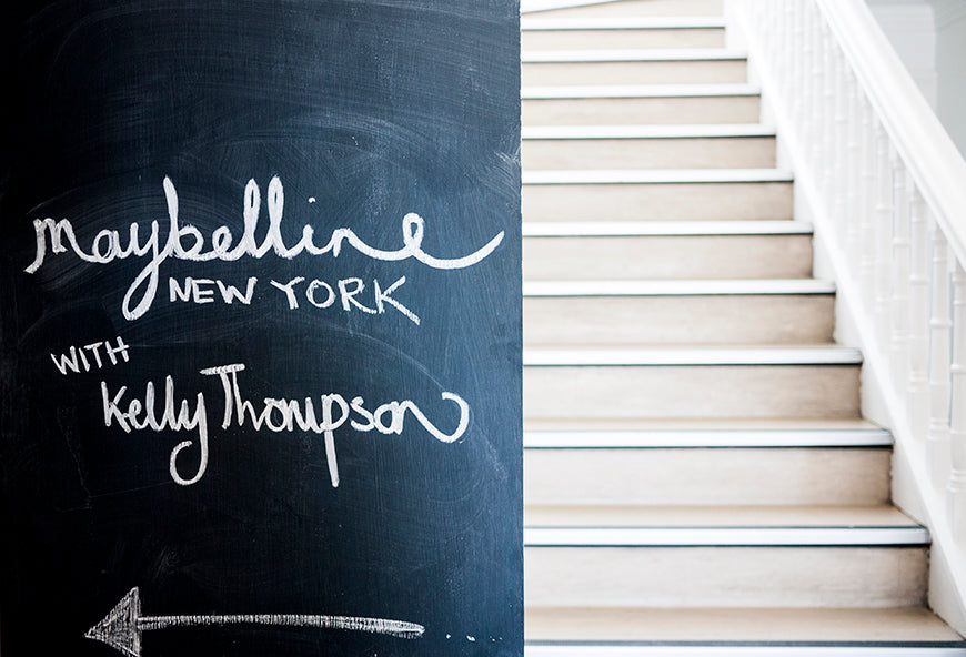 Melbourne Beauty Illustrator Kelly Thompson art class Maybelline New York makeup PR Event