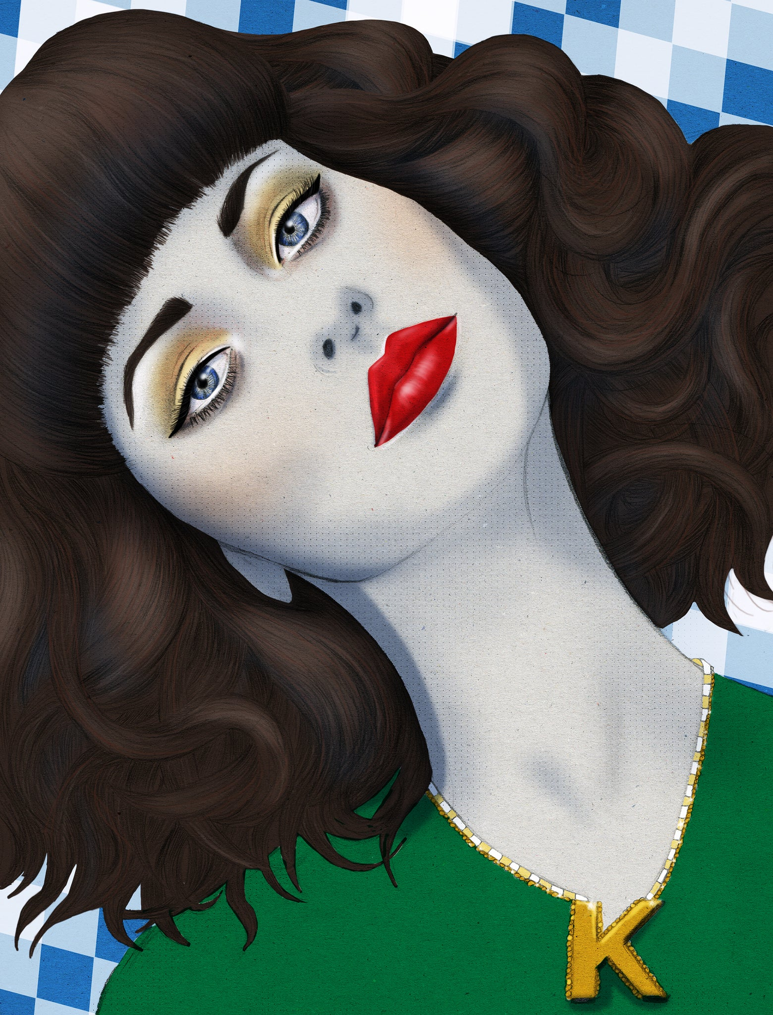Kimbra portrait illustration by Melbourne based illustrator Kelly Thompson