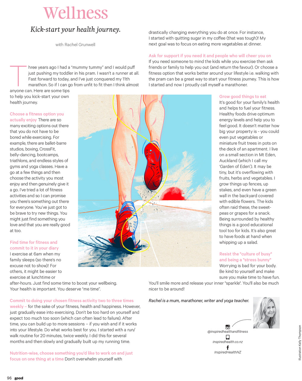 Health wellbeing nutrition illustration editorial magazine by Melbourne based illustrator Kelly Thompson