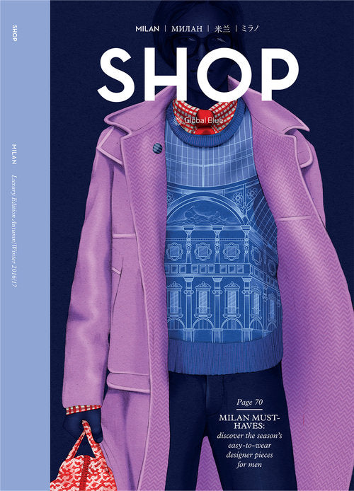SHOP Magazine cover men fashion illustration by Melbourne based illustrator Kelly Thompson