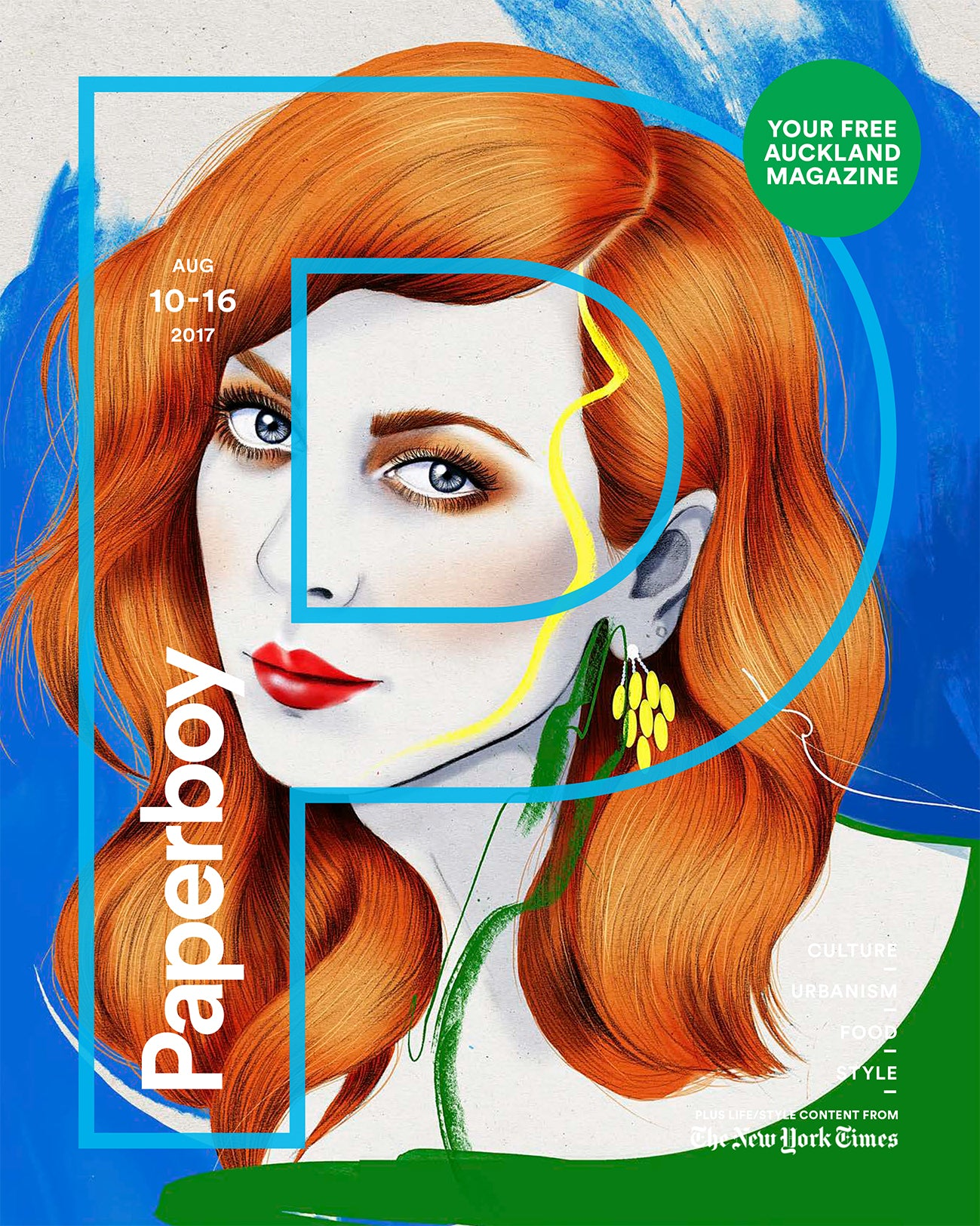 Melbourne Illustrator Kelly Thompson Paperboy Magazine cover self portrait and article