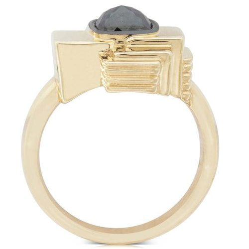 Walker & Hall New Zealand #20 Jewellery Collection commission art deco gold diamond ring by Melbourne based illustrator Kelly Thompson