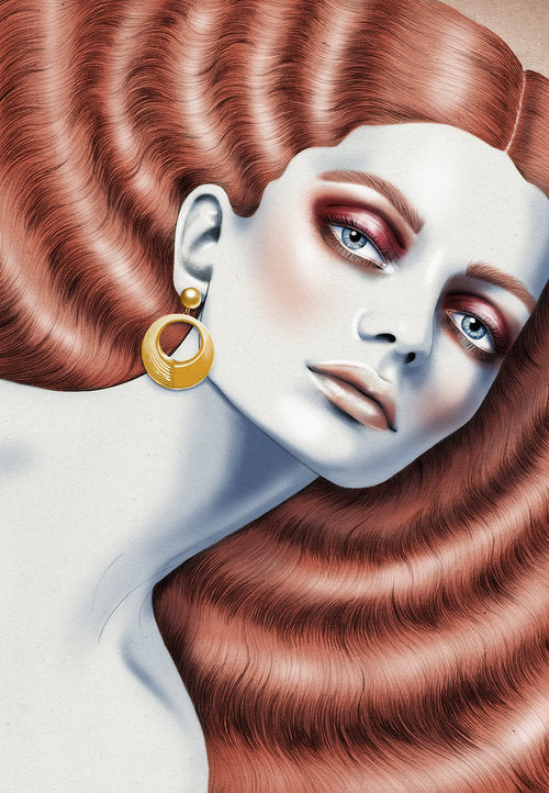 Walker & Hall New Zealand #70 Jewellery Collection commission sterling silver gold plate woman beauty brand packaging illustration by Melbourne based illustrator Kelly Thompson