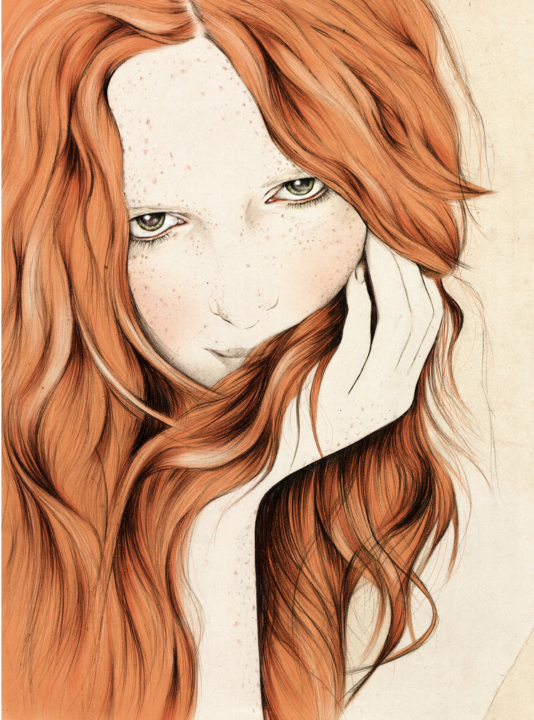 Girl illustration commission by Melbourne based illustrator Kelly Thompson