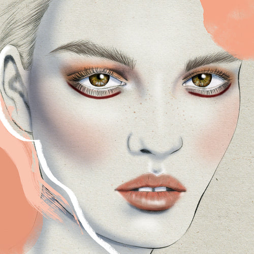 Ginger and Smart fashion beauty girl makeup Mercedes-Benz Fashion Week Australia Sydney illustration by Melbourne based illustrator Kelly Thompson