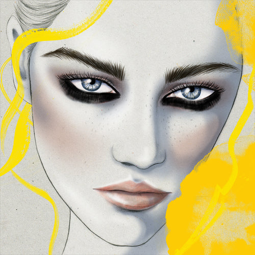 Manning Cartell fashion beauty girl makeup Mercedes-Benz Fashion Week Australia Sydney illustration by Melbourne based illustrator Kelly Thompson