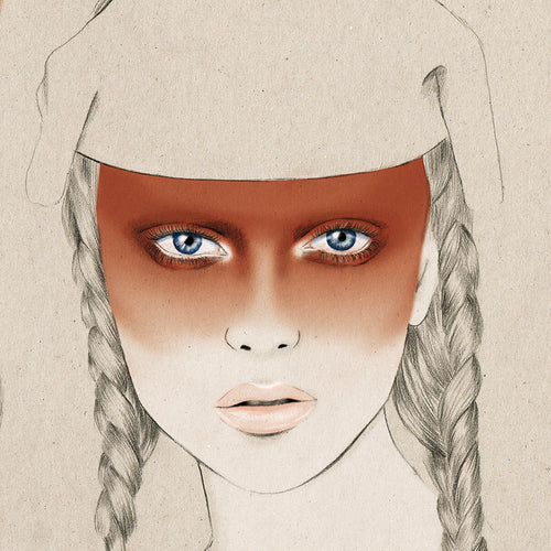 MAC Cosmetics New Zealand Fashion Week makeup fashion illustration by Melbourne based illustrator Kelly Thompson