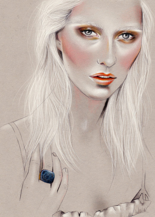Remix Magazine pencil sketch portrait illustration by Melbourne based illustrator Kelly Thompson