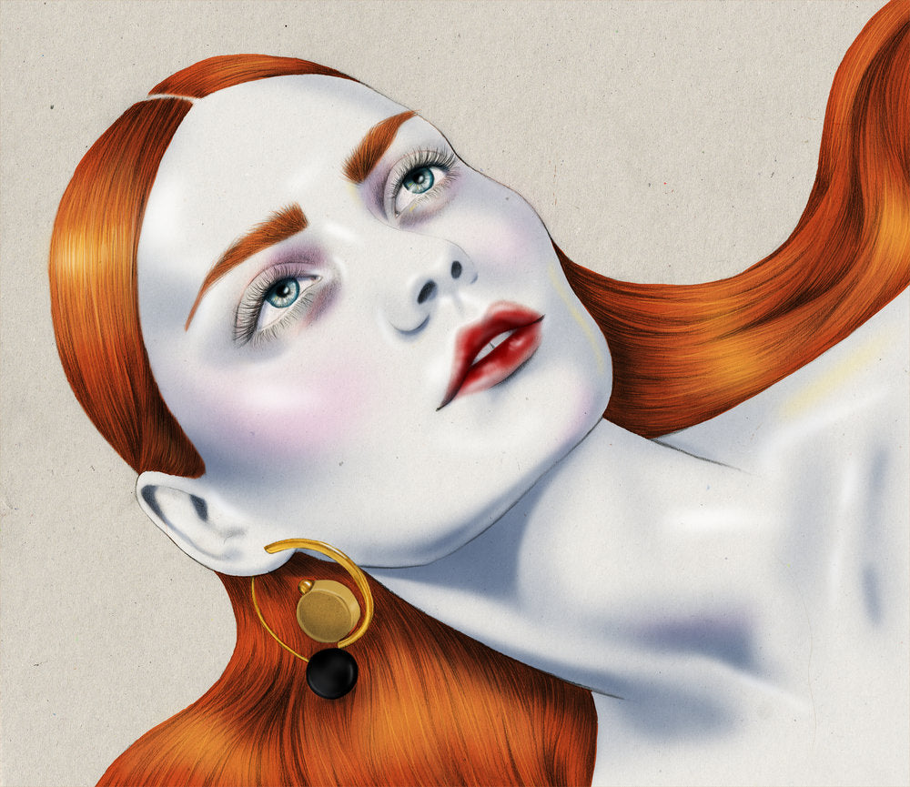 Melbourne Illustrator Kelly Thompson Beauty and Fashion Illustration Marni Earrings