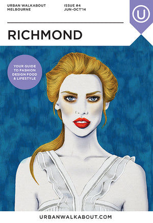 Urban Walkabout cover Richmond fashion illustration by Melbourne based illustrator Kelly Thompson