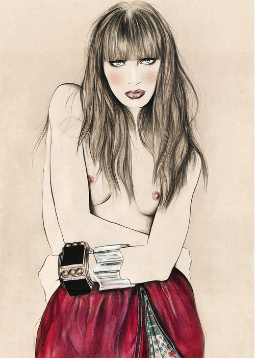 Skirt cuffs fashion illustration by Melbourne based illustrator Kelly Thompson