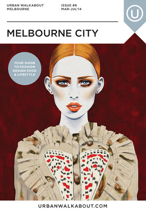 Urban Walkabout cover fashion illustration by Melbourne based illustrator Kelly Thompson