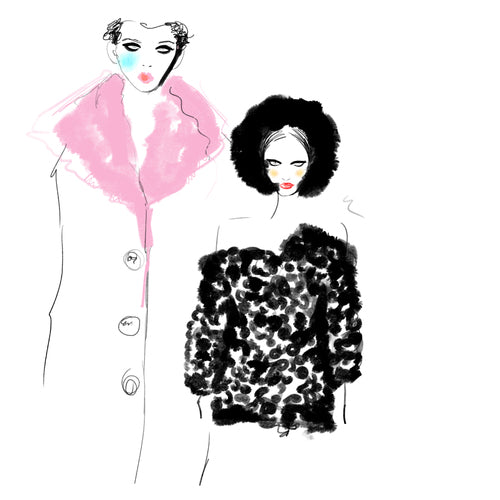 Fashion illustration women by Melbourne based illustration Kelly Thompson