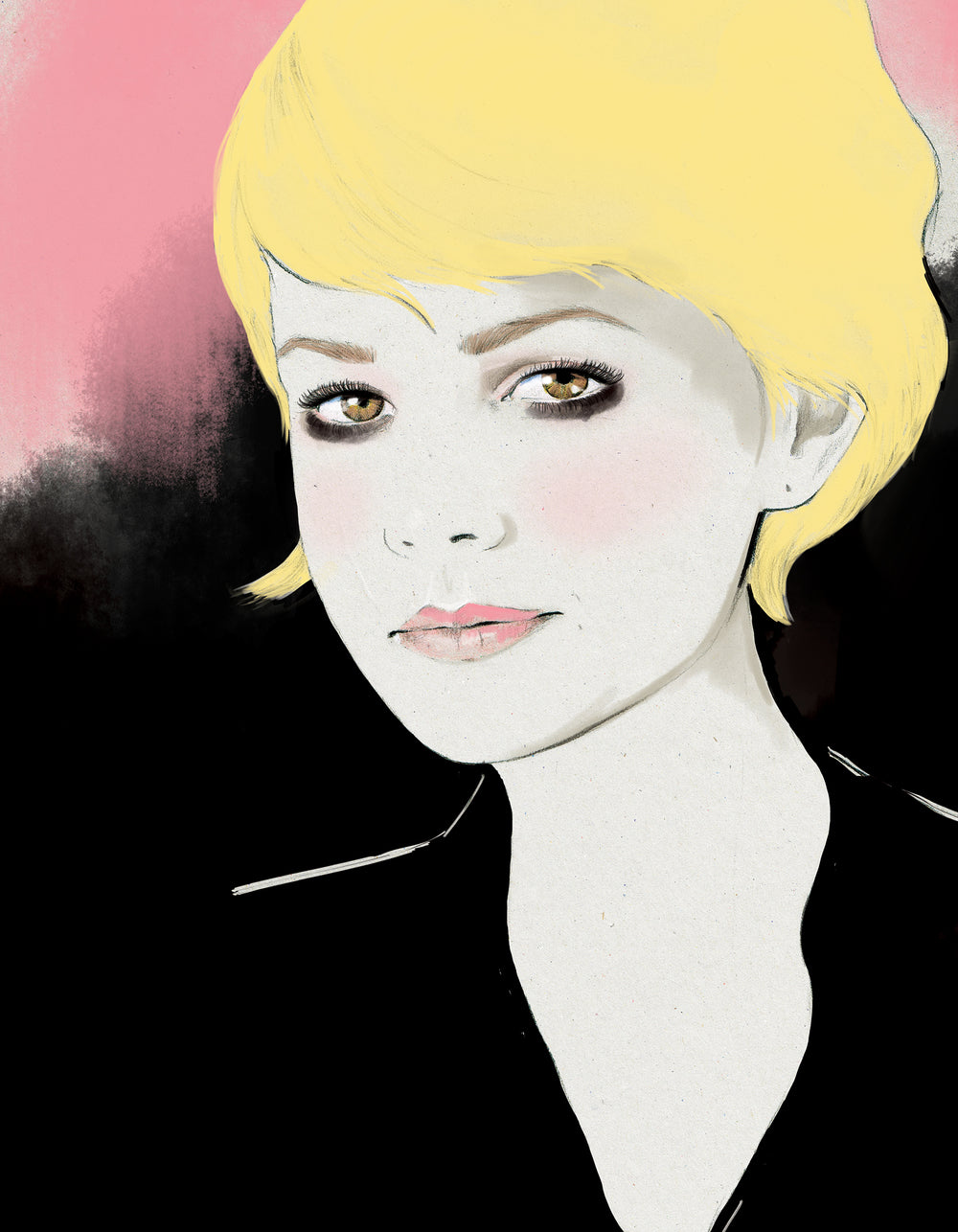 Actress Carey Mulligan fashion illustration Little White Lies book by Melbourne based illustrator Kelly Thompson
