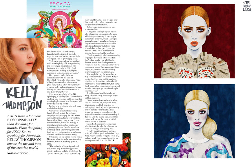 Collective Magazine Illustrator Kelly Thompson