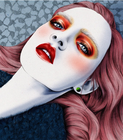 Holly Rose personal beauty girl makeup illustration by Melbourne based illustrator Kelly Thompson