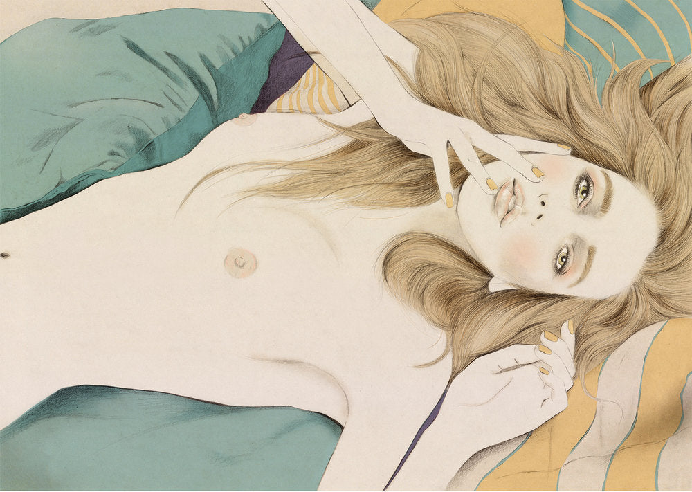 Nude beauty illustration by Melbourne based illustrator Kelly Thompson