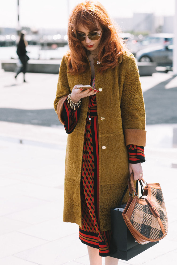 Melbourne Illustrator Kelly Thompson wearing Michael Kors from The Outnet New Zealand Fashion Week street style