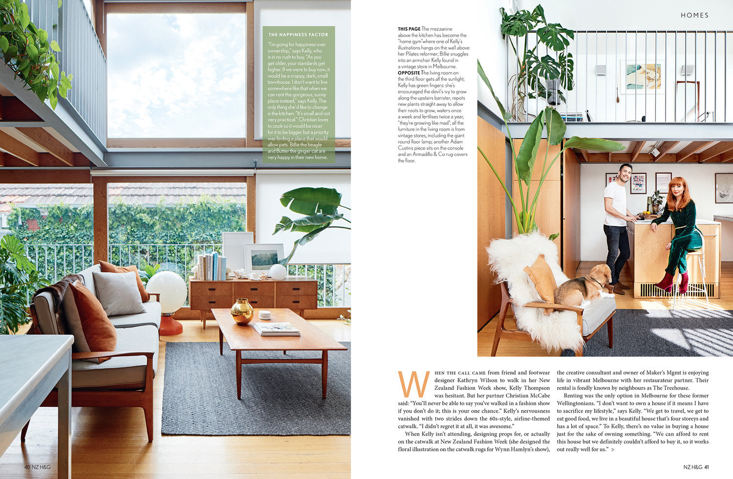 Illustrator Kelly Thompson in her Mid-century Melbourne home NZ House and Garden Magazine