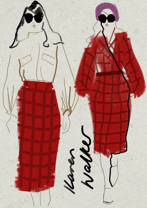 Karen Walker fashion women illustration by Melbourne based illustrator Kelly Thompson