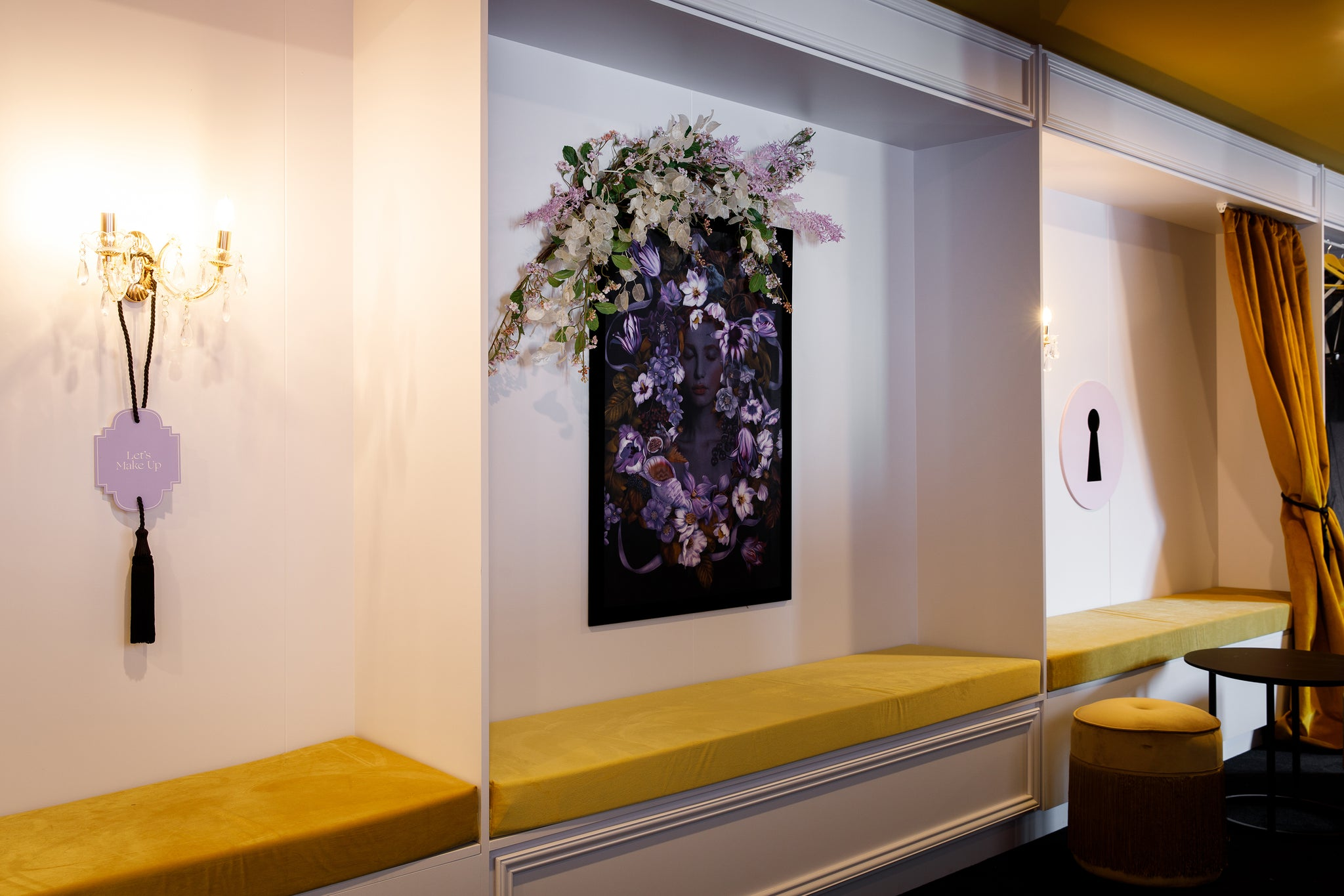 I worked with incredible Gloss Creative studio to create a series of large scale botanicals for 1 Oliver Street, a moody boudoir marquee as part of the 2019 Melbourne Cup races.