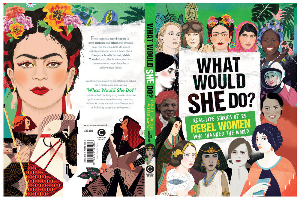 Carlton Books What Would She Do book cover women illustration by Melbourne based illustrator Kelly Thompson