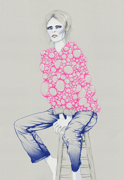Fashion illustration girl by Melbourne based illustrator Kelly Thompson