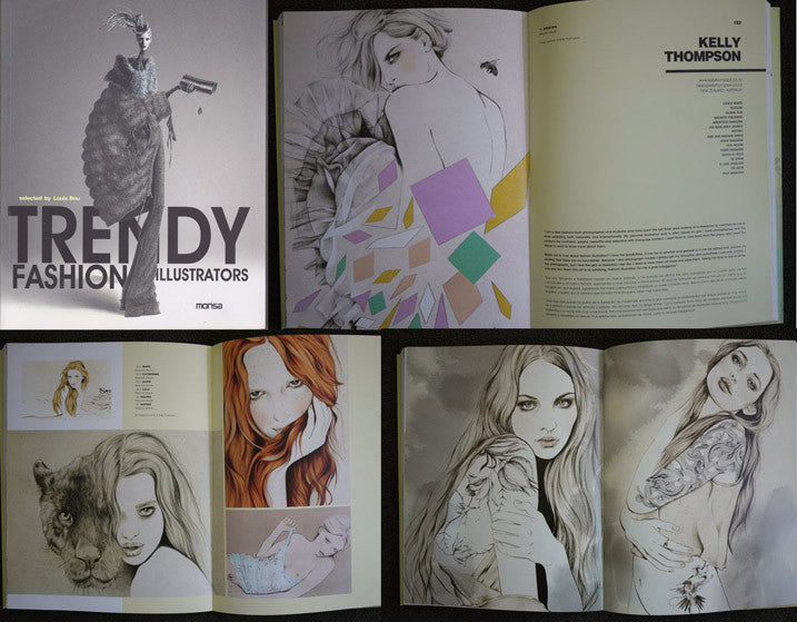 Illustrator Kelly Thompson Trendy Fashion Illustrators Book