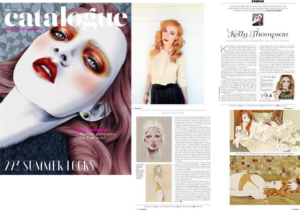 Illustrator Kelly Thompson Holly Rose Catalogue Magazine covergirl
