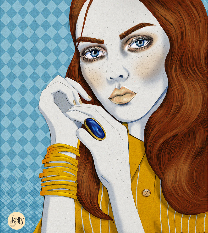 Melbourne beauty and fashion illustrator Kelly Thompson Urban Walkabout cover illustration
