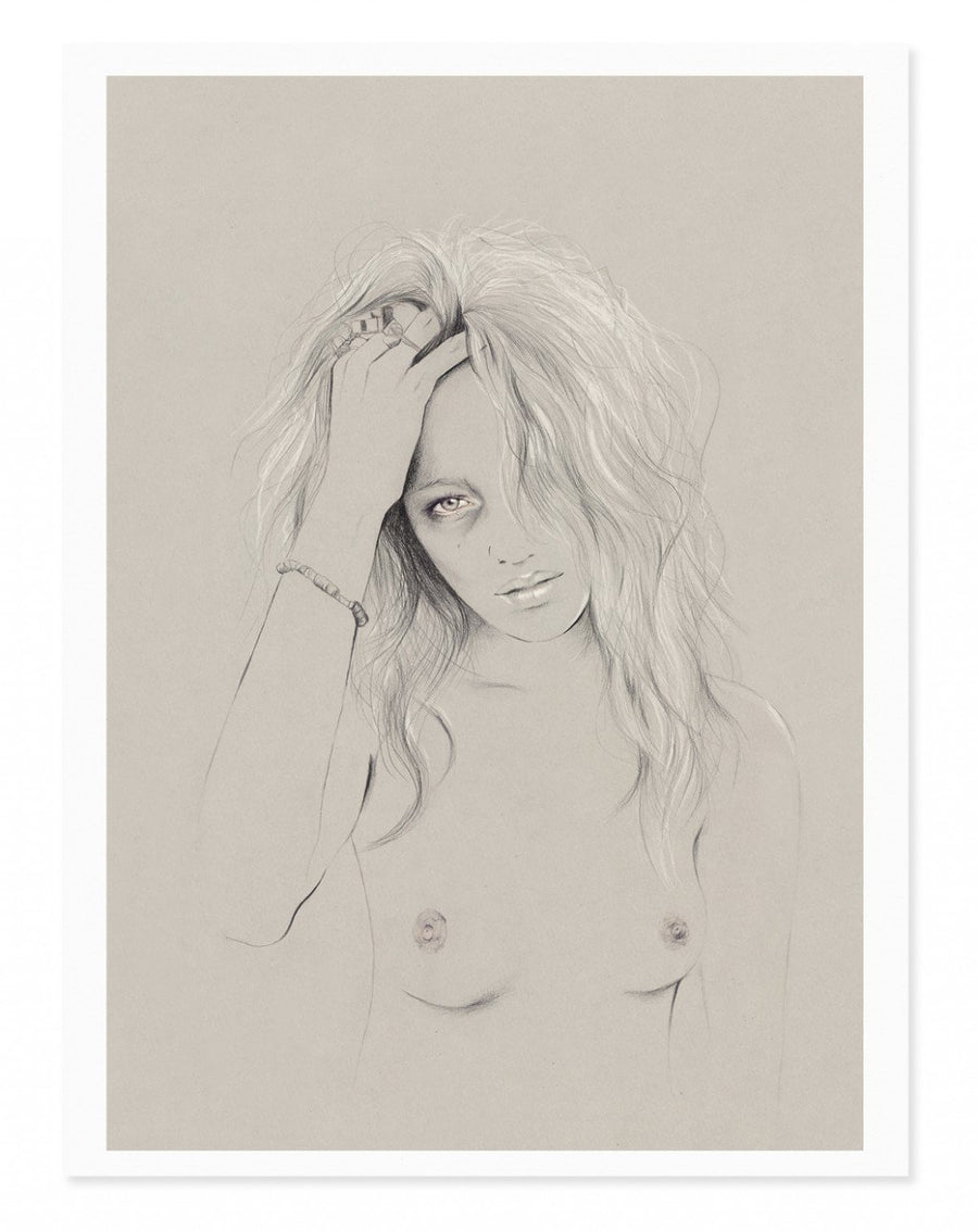 Kelly thompson melbourne illustrator Illustration portrait woman illustration art print Zippora Seven , Derek Henderson