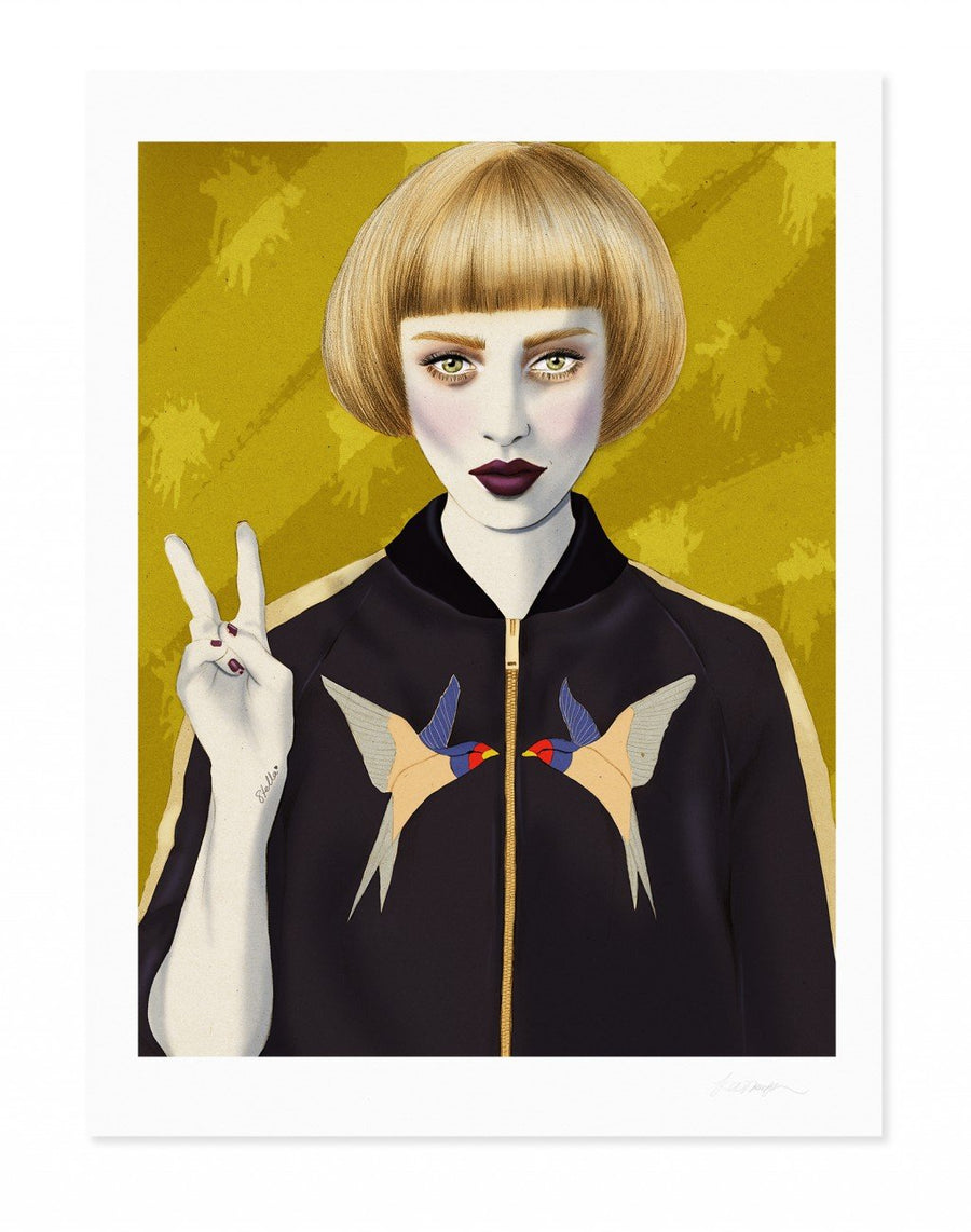 Stella McCartney bomber jacket illustration  Kelly Thompson Melbourne