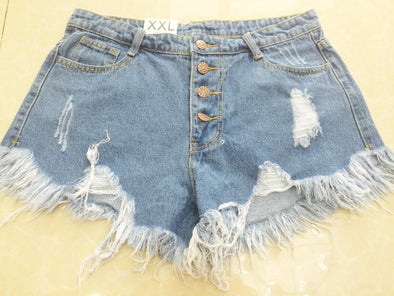 Loose Burr Hole Jeans Shorts - Attract Wear LLC