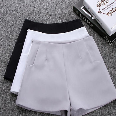 High Waist Casual Suit Shorts - Attract Wear LLC