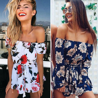 Romper Womens Outfit Clothes Off Shoulder Beach Jumpsuit Clubwear Sexy Ladies - Attract Wear