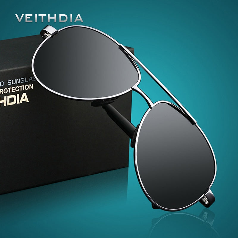 VEITHDIA Men's Sunglasses Brand Designer Pilot Polarized Male Sun Glasses - Attract Wear